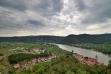 Burgruine Dürnstein: Blick auf die Stadt.