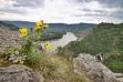 Burgruine Dürnstein: Blick auf die Landschaft.