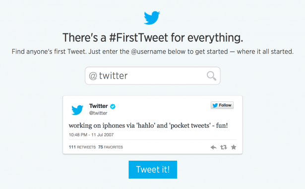 first-tweets.com