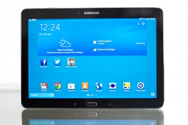 Samsung Galaxy Tab Pro 10.1: Front.