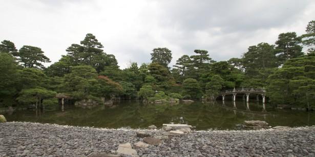 Beim Kaiserpalast Kyoto.