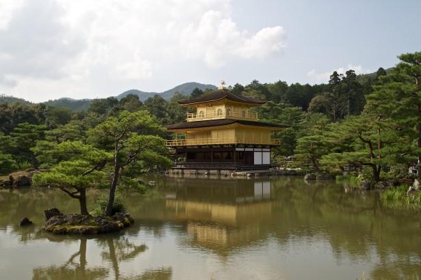 Weiter zum Kinkakuji Tempel …