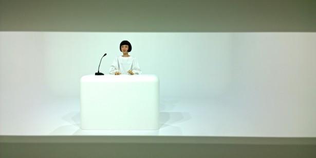 In der permanenten Ausstellung des Miraikan gab es unter anderem Androiden zu sehen …