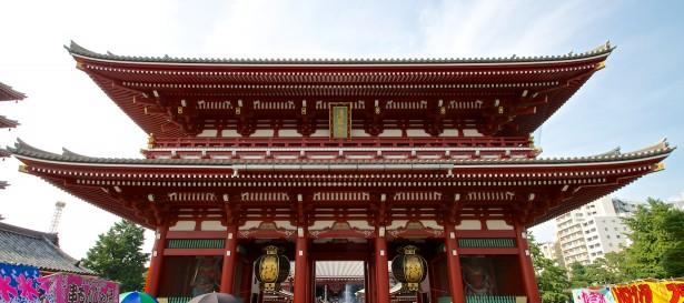 Das zweite Tor zum Senso-ji Schrein.