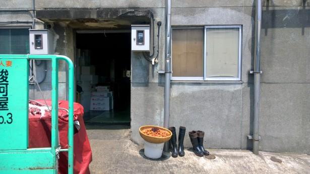 Beim Tsukiji Fischmarkt.